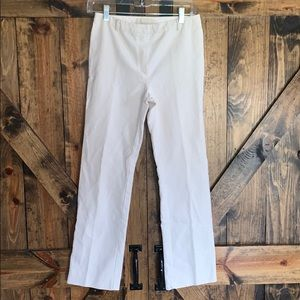 MaxMara cream skinny dress slacks size 6!